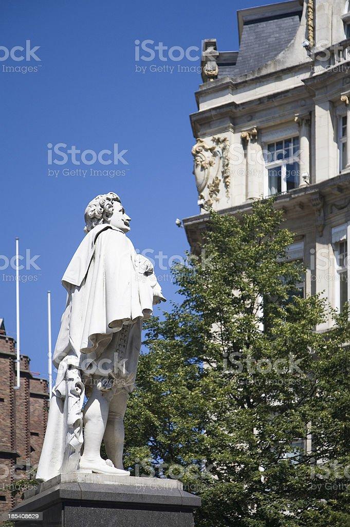 Antoon Van Dyck statue in Antwerp stock photo