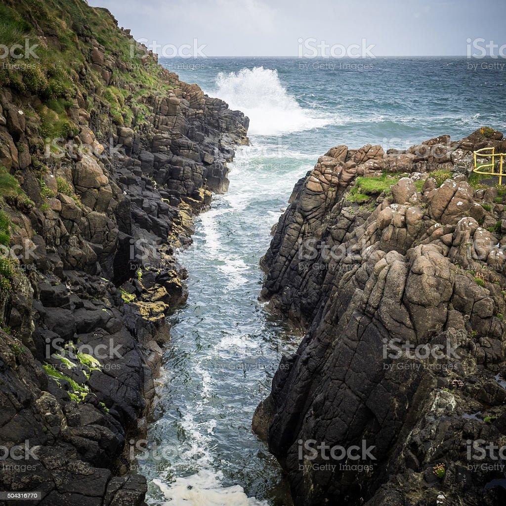 Antrim coast stock photo
