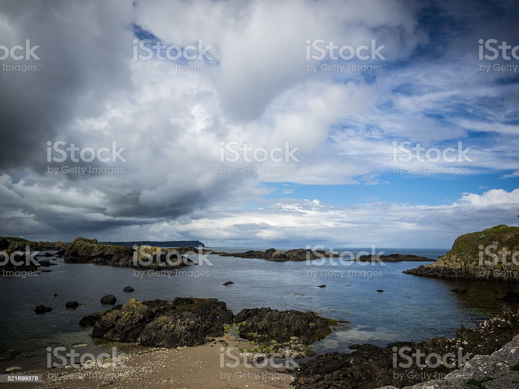 Antrim Coast stock photo