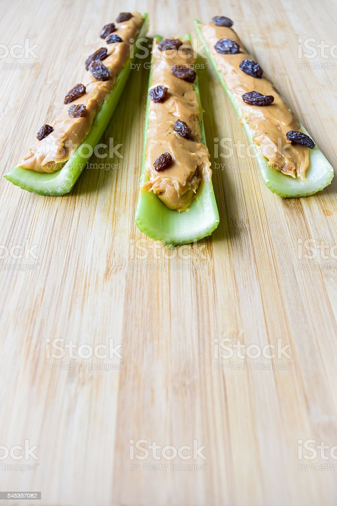 Ants on a Log (Snack) stock photo