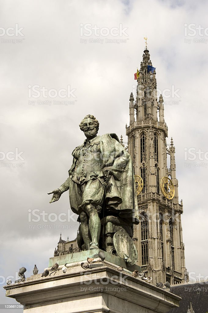 Antwerp – Rubens and the Cathedral stock photo