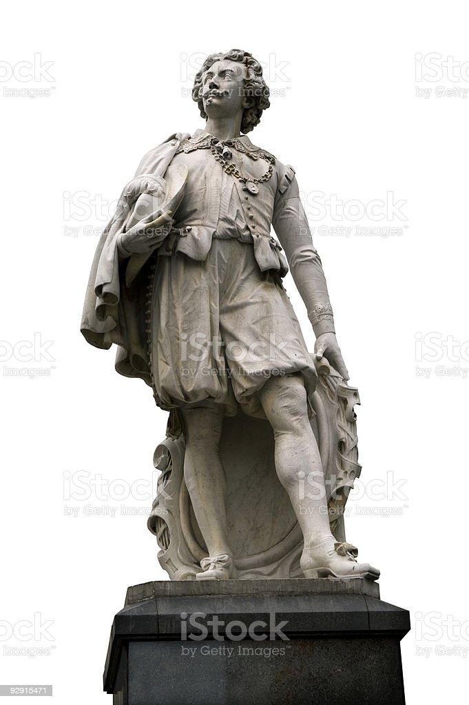 Antwerp – Statue of Sir Anthony Van Dyck stock photo