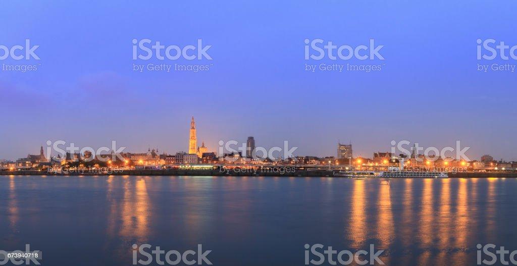 Antwerp blue hour stock photo