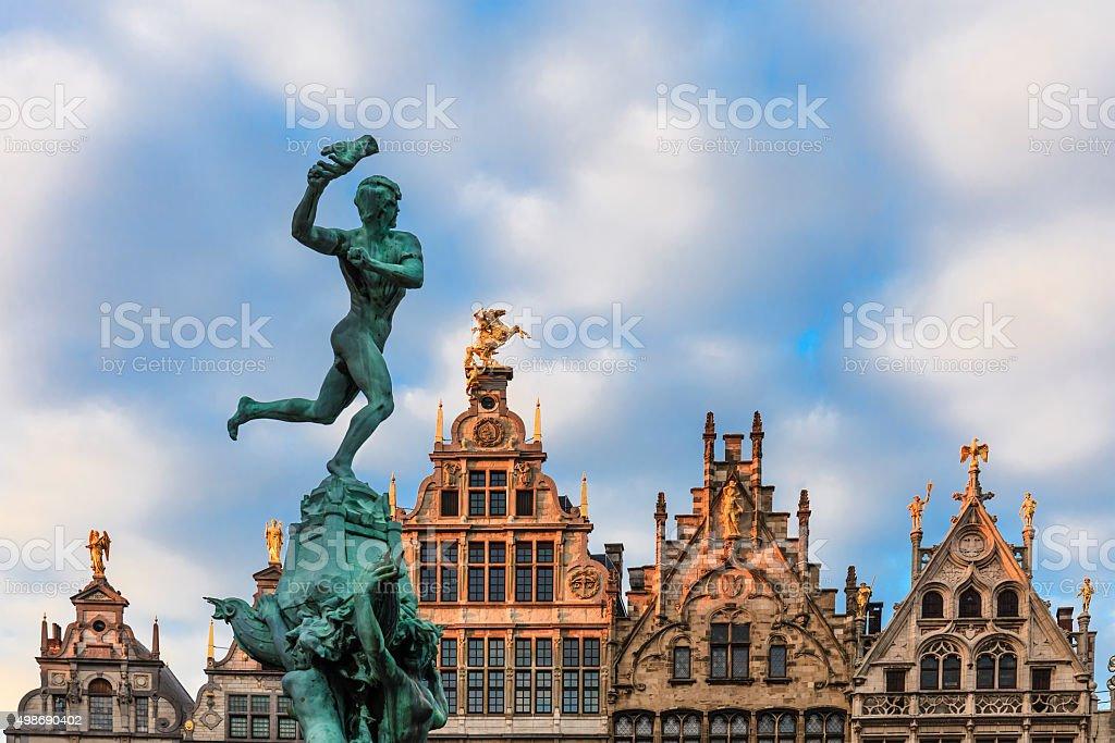 Antwerp, Brabo Fountain - Belgium stock photo