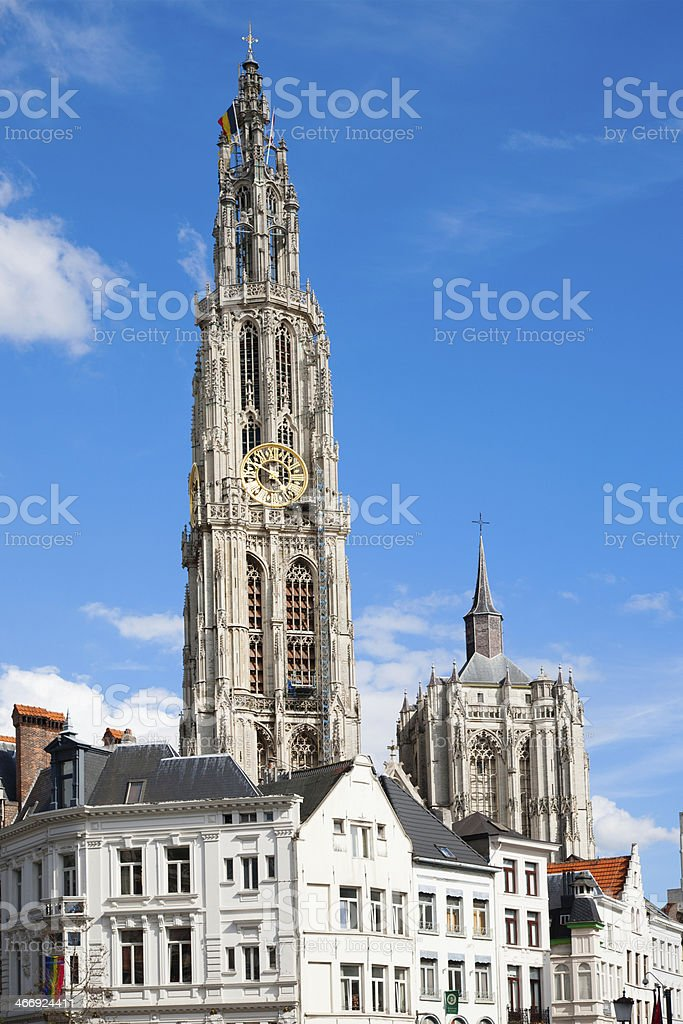 Antwerp Cathedral royalty-free stock photo