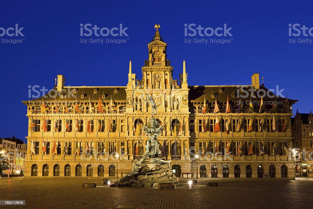 Antwerp City Hall, Belgium stock photo