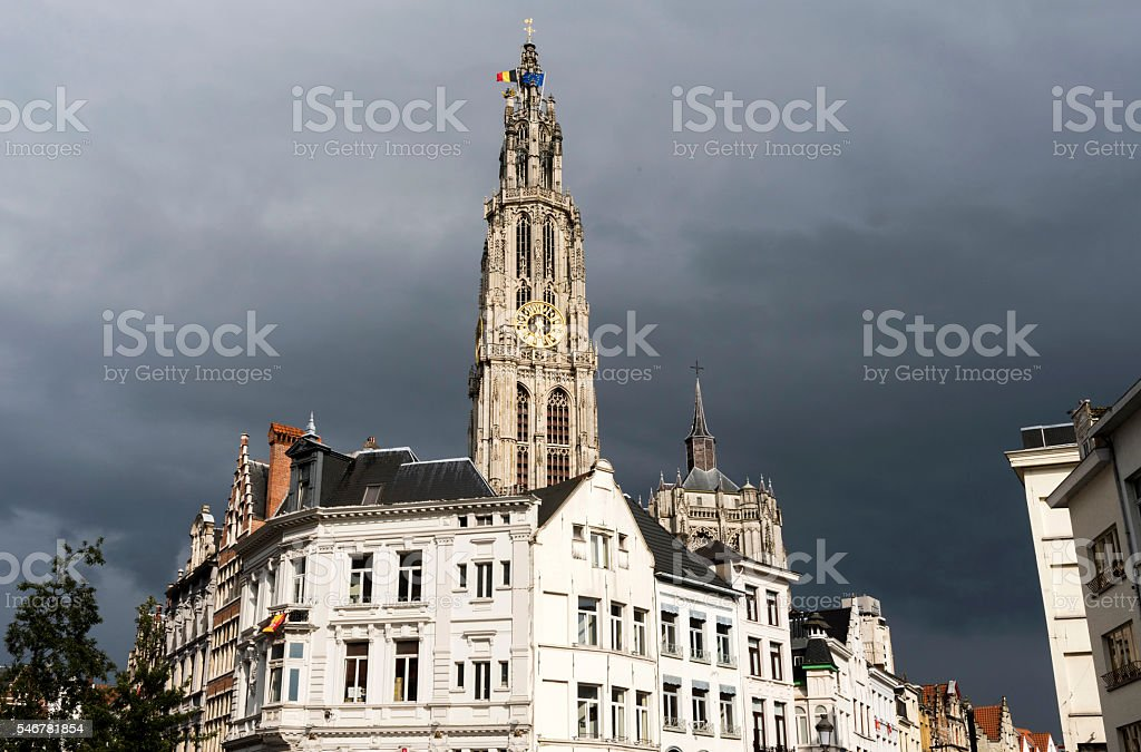 Antwerp City in Belgium stock photo