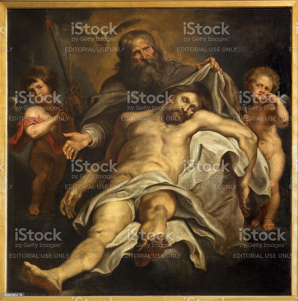 Antwerp - Deposition of the cross by Peter Paul Rubens stock photo