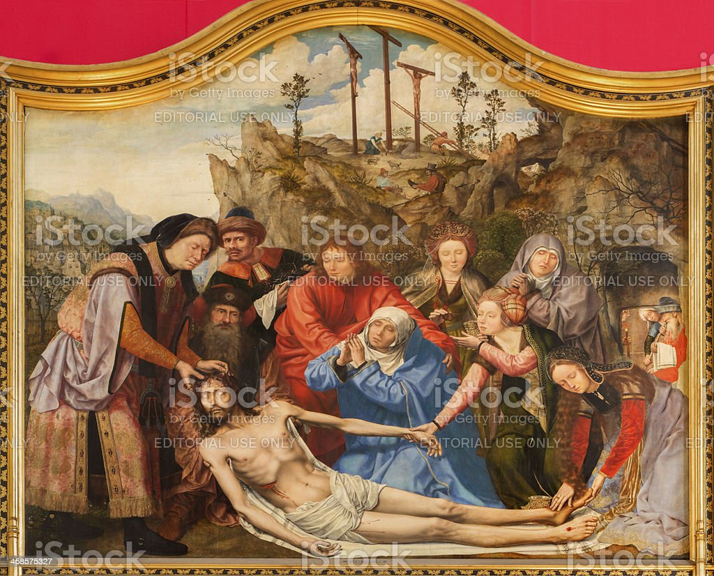 Antwerp - Deposition of the cross  in cathedral  by Metsijs royalty-free stock photo