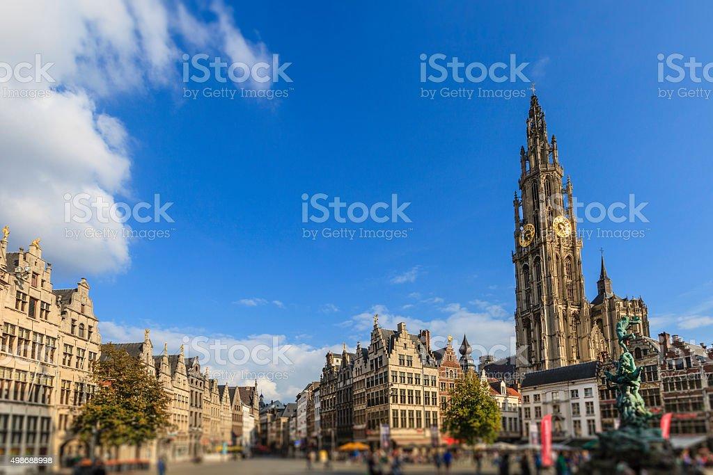 Antwerp, Grote Markt - Belgium stock photo