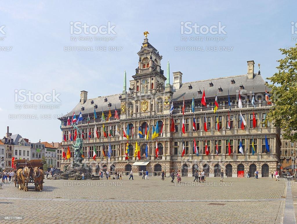 Antwerp Grote Markt stock photo