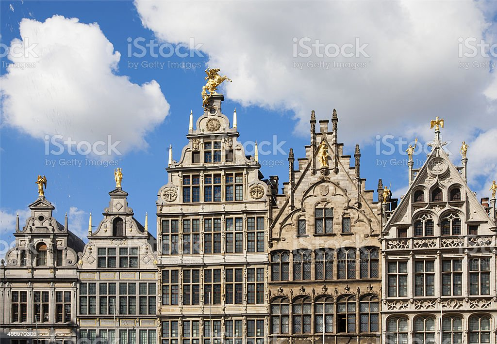 Antwerp Guild houses royalty-free stock photo