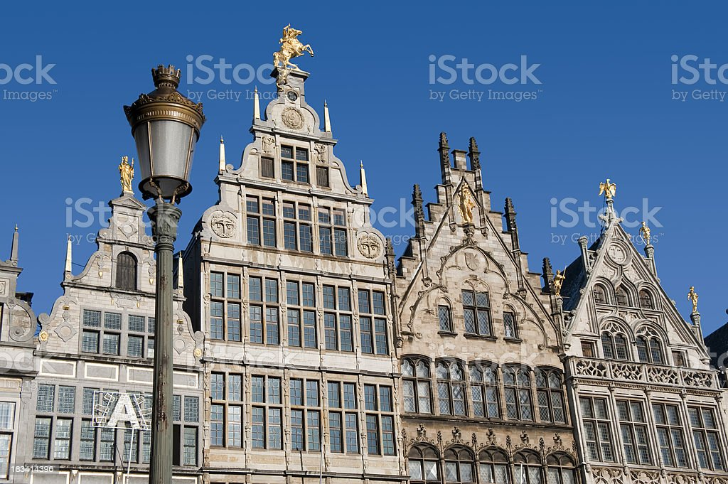 Antwerp, Historical  house fronts. royalty-free stock photo