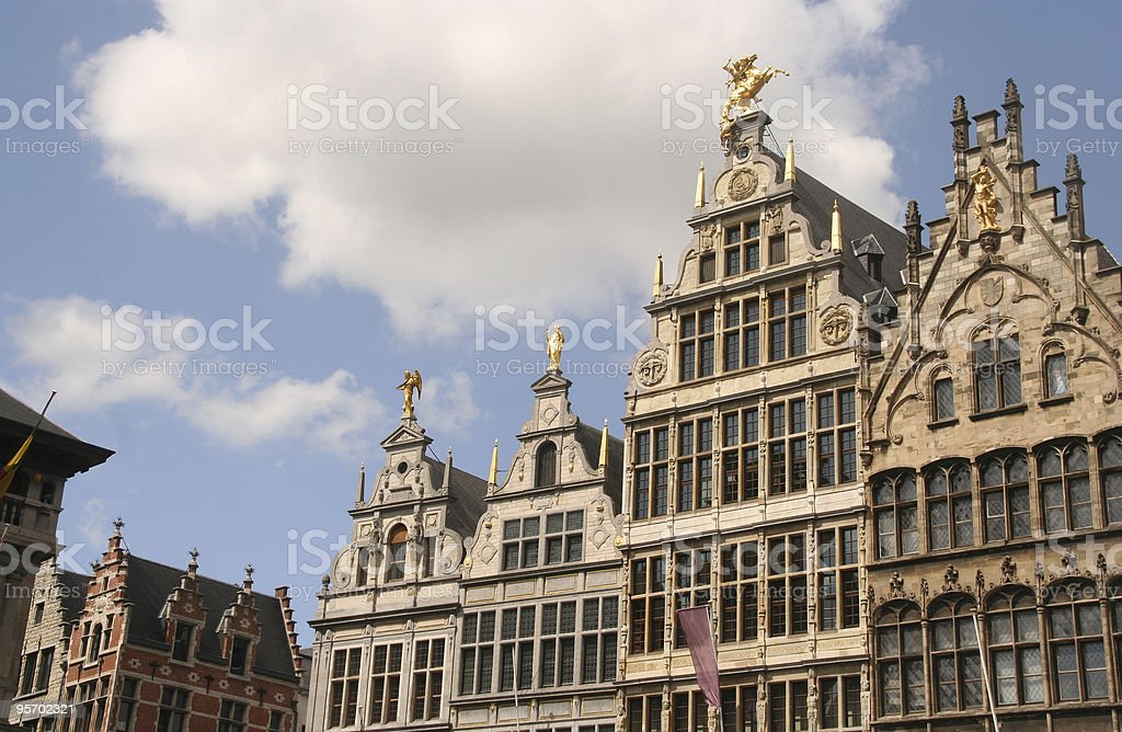 Antwerp Houses royalty-free stock photo
