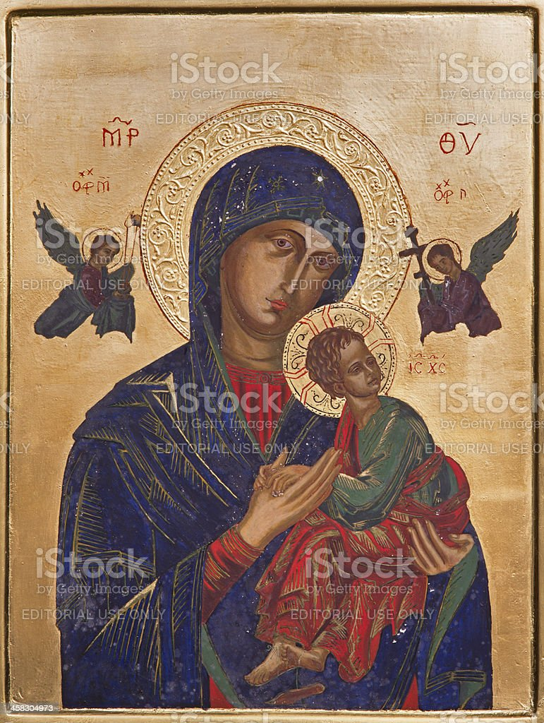 Antwerp - Icon of Madonna in Saint Willibrordus royalty-free stock photo