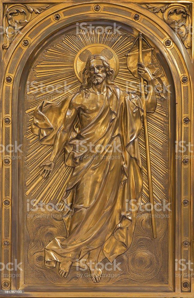 Antwerp - Relief of Resurrected Christ stock photo