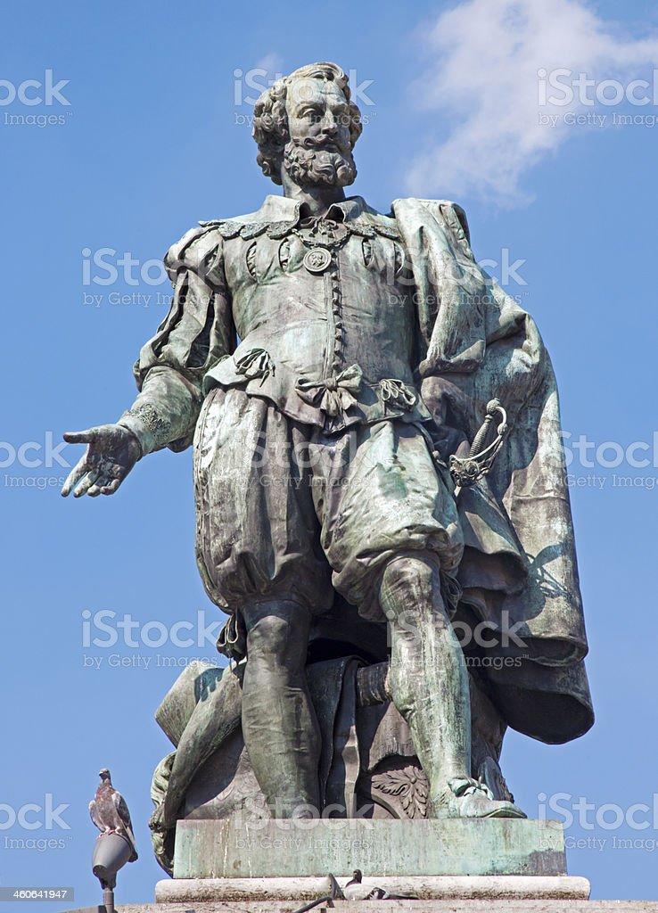 Antwerp - Statue of painter Peter Paul Rubens stock photo