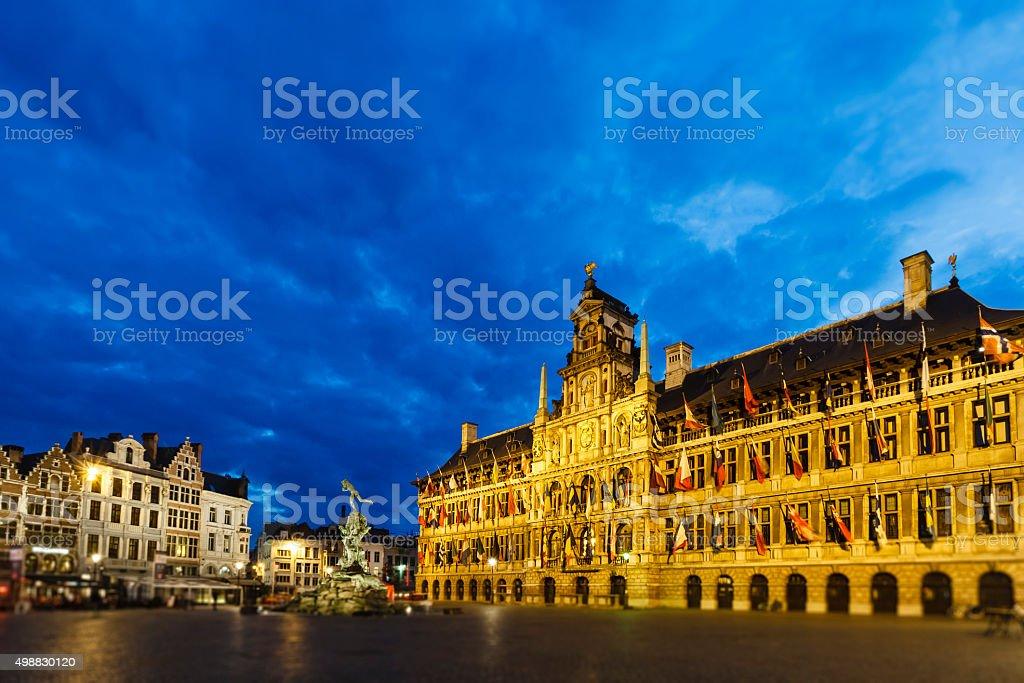 Antwerp, the Grote Markt - Belgium stock photo