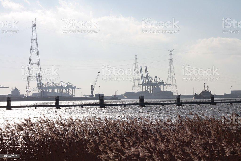 Antwerpen Haven / Port of Antwerp; taken in Zandvliet, Belgium stock photo