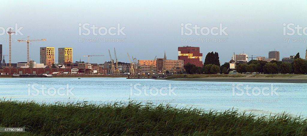 Antwerpen skyline stock photo