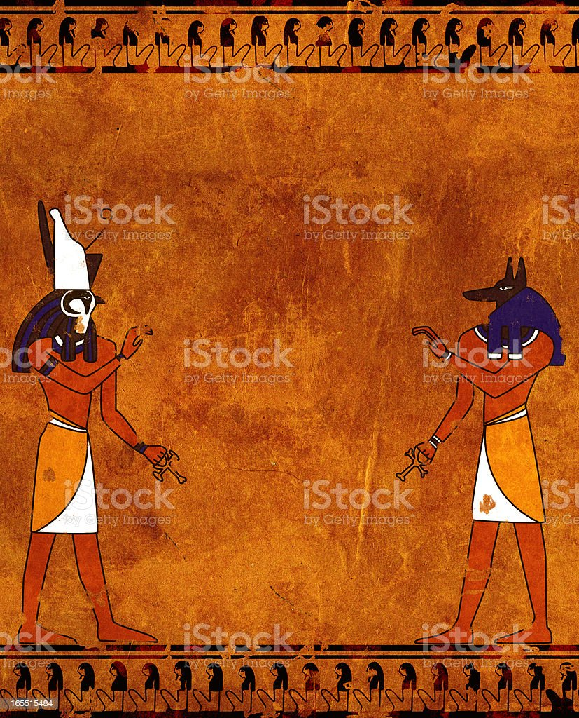 Anubis and Horus royalty-free stock photo