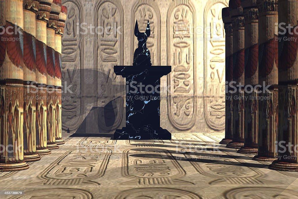 Anubis Temple royalty-free stock photo