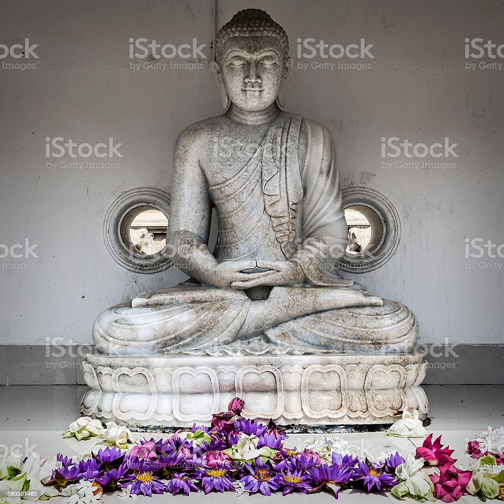 Anuradhapura Buda stock photo