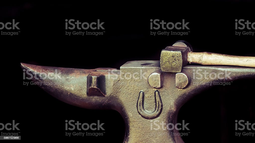 Anvil and Hammer stock photo
