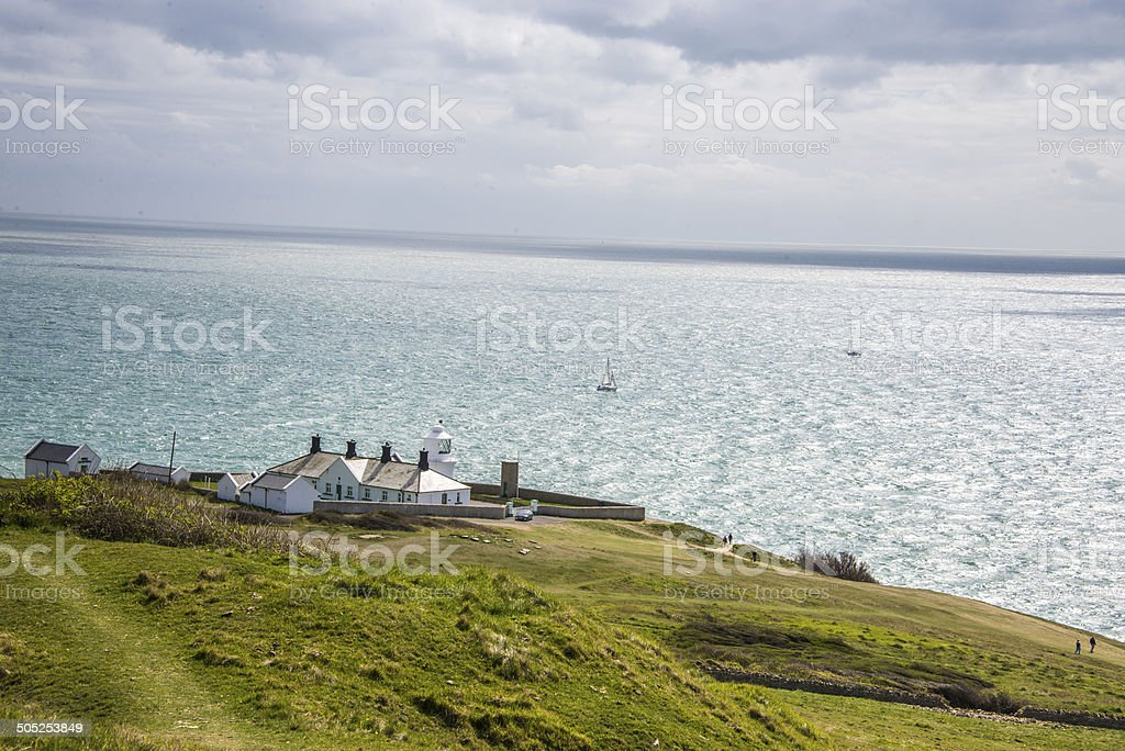 Anvil Point Lighthouse royalty-free stock photo