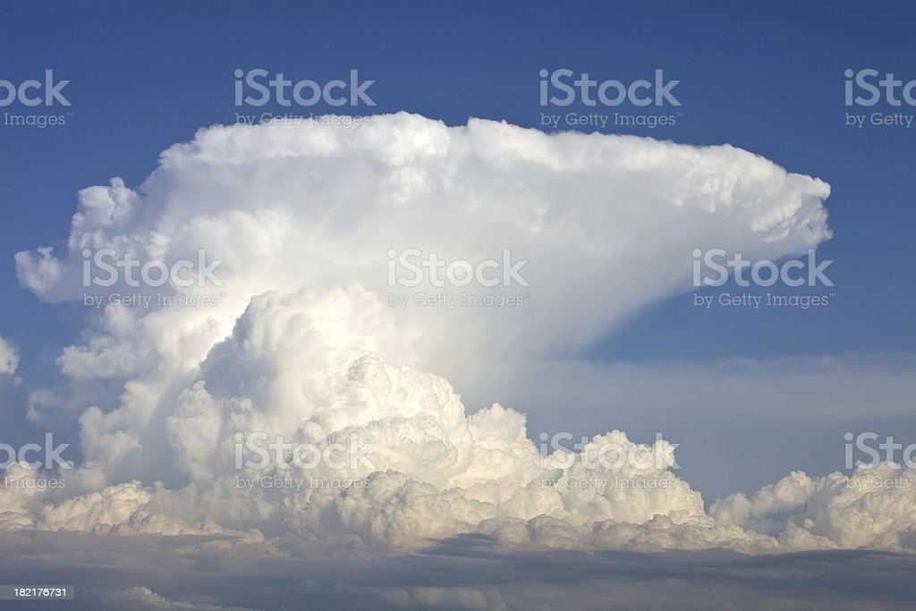 Anvil Storm Cloud and Blue Sky stock photo
