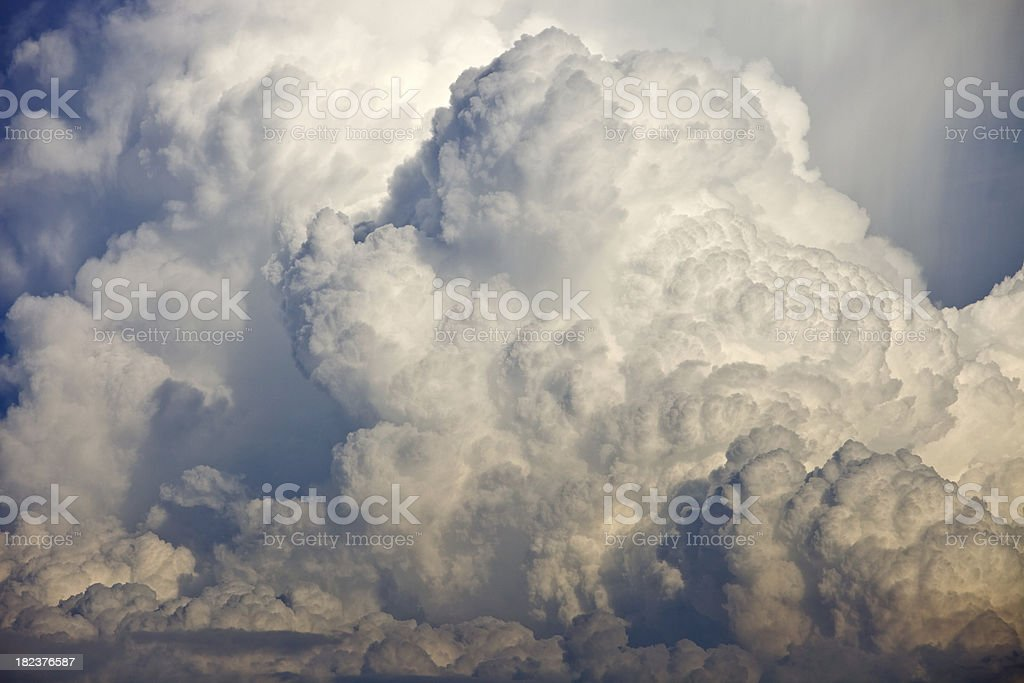 Anvil Storm Cloud Section stock photo