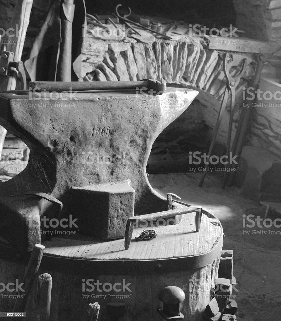Anvil with Hammer stock photo