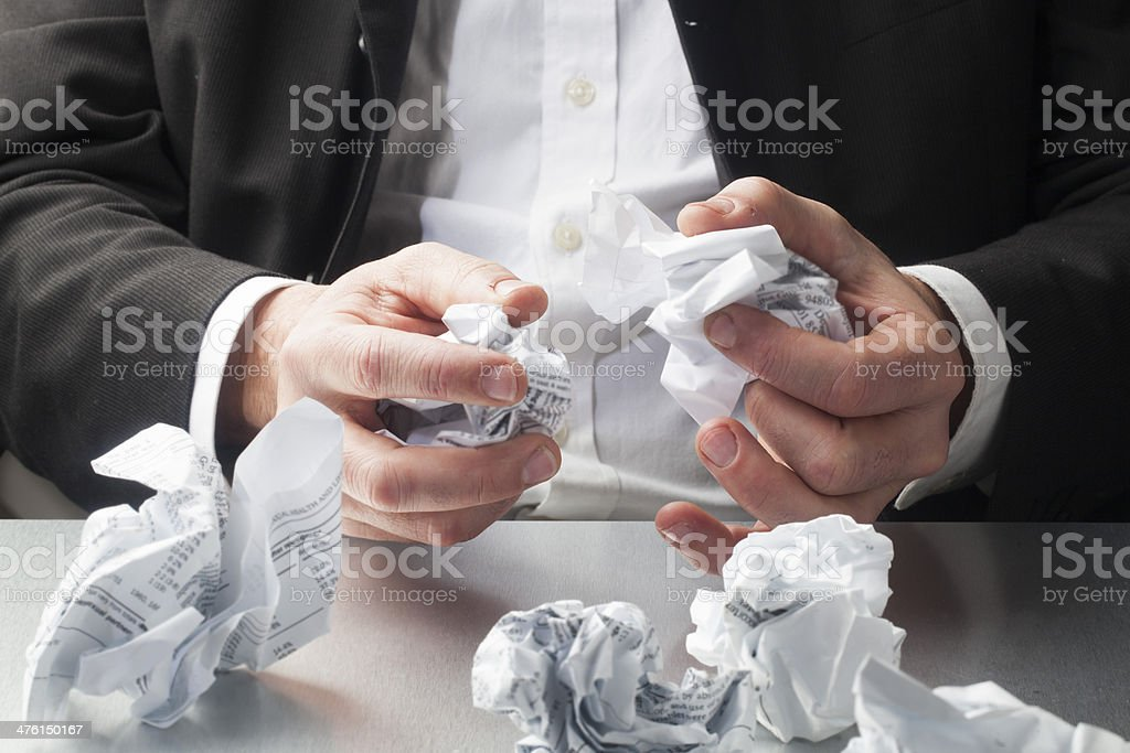 anxiety and creativity at work royalty-free stock photo