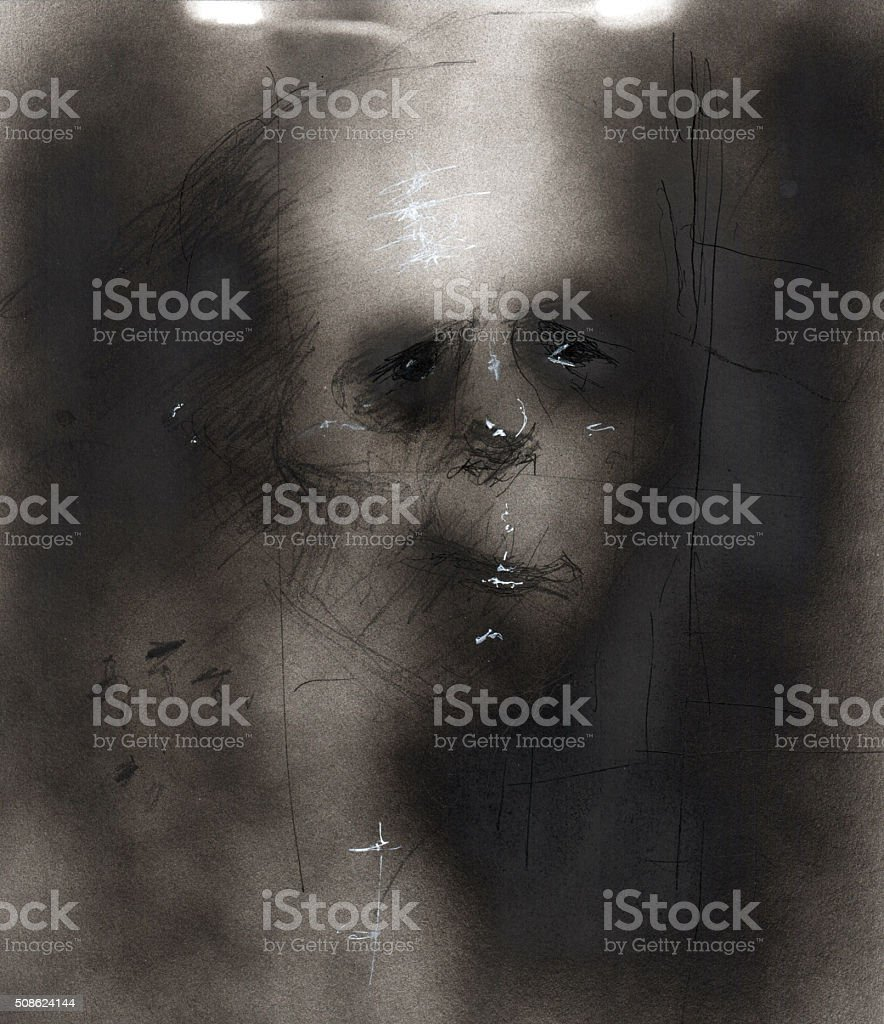 Anxiety and Depression Illustration 03 stock photo