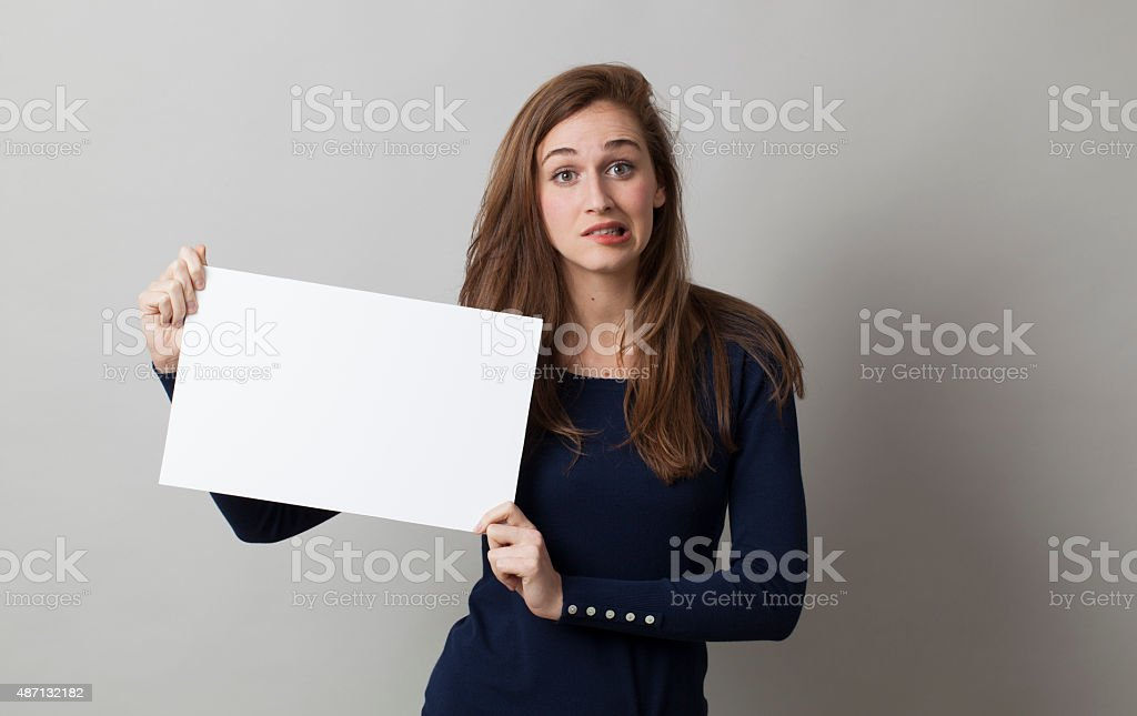 anxiety and nervousness about bad news or communication stock photo