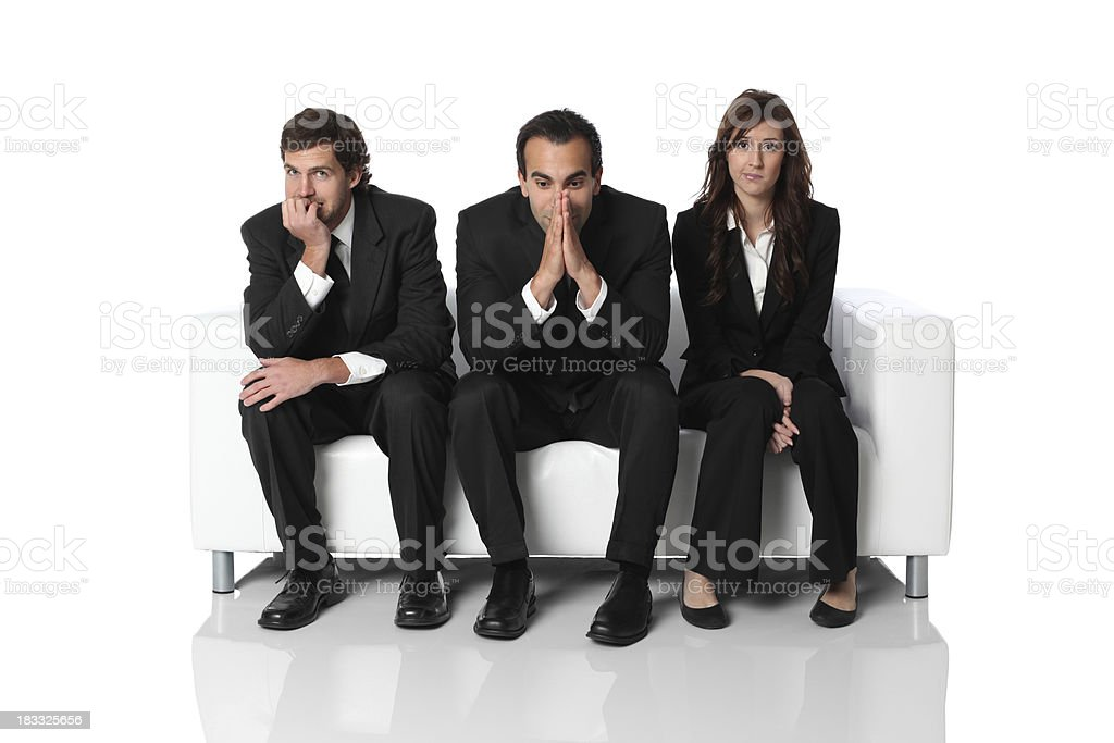 Anxiety in the waiting room royalty-free stock photo