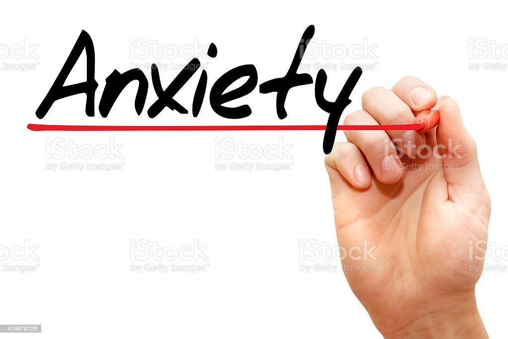 Anxiety stock photo