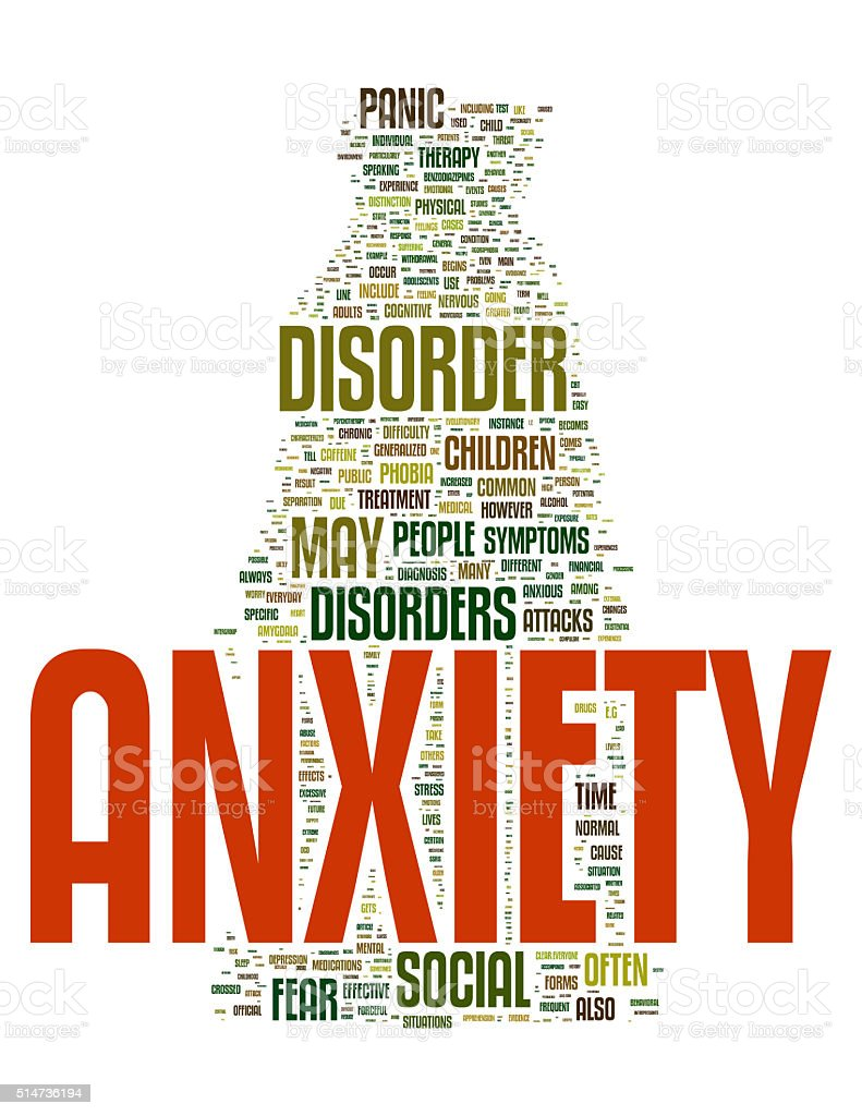 Anxiety stock photo