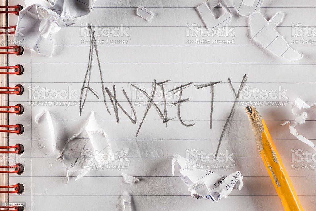 Anxiety shout stock photo