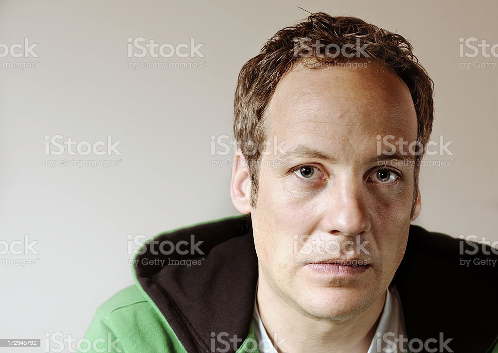 anxious man, casual wear royalty-free stock photo