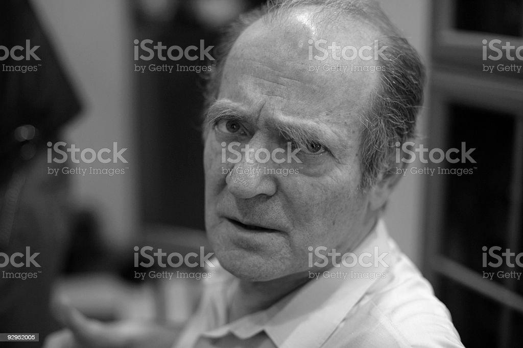 Anxious man portrait royalty-free stock photo