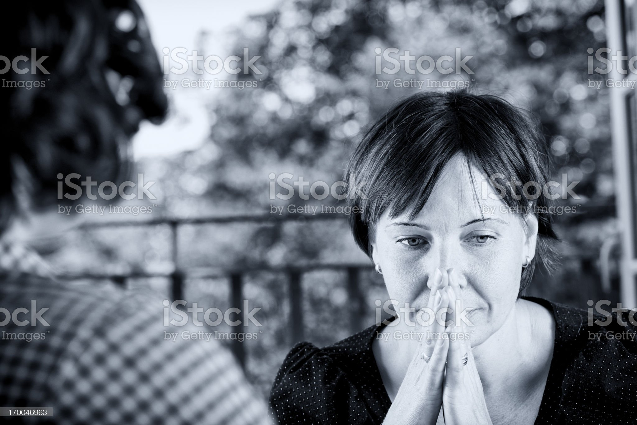 Anxious Young Woman In a Counselling Session. royalty-free stock photo