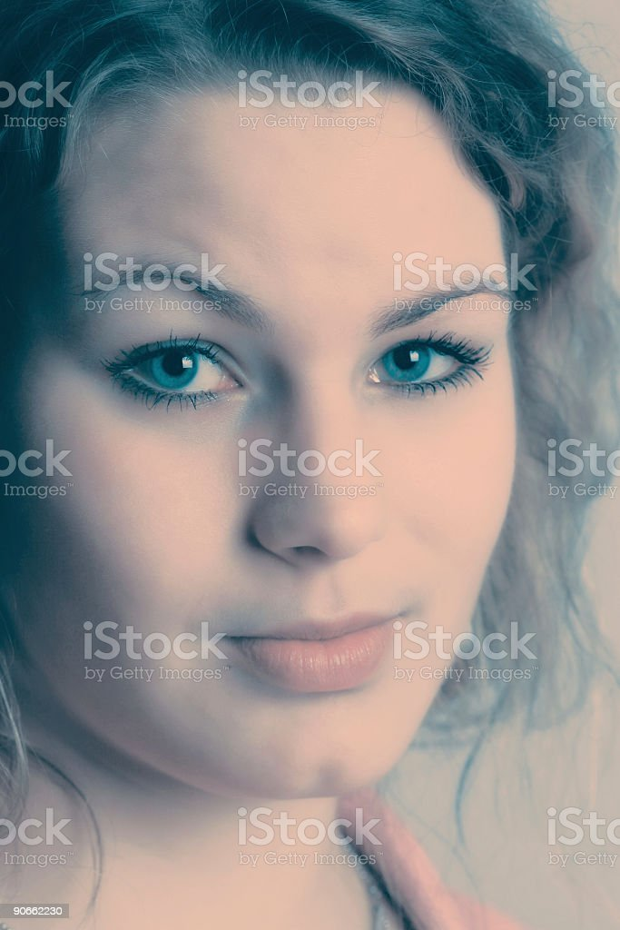 Anxious young woman royalty-free stock photo