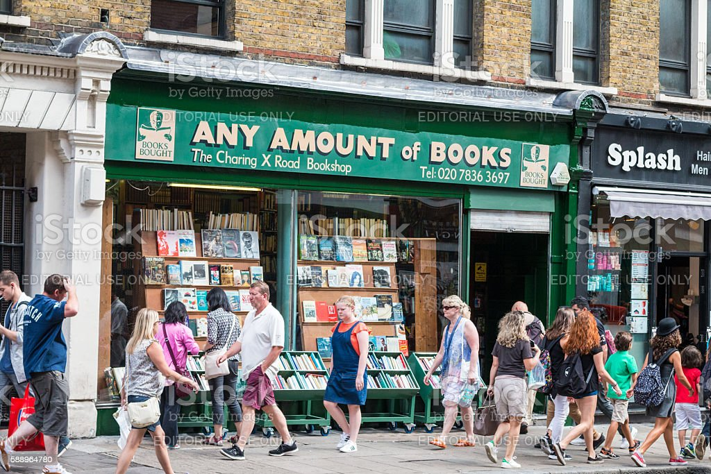 Any Amount of Books in Charing Cross Road, London stock photo