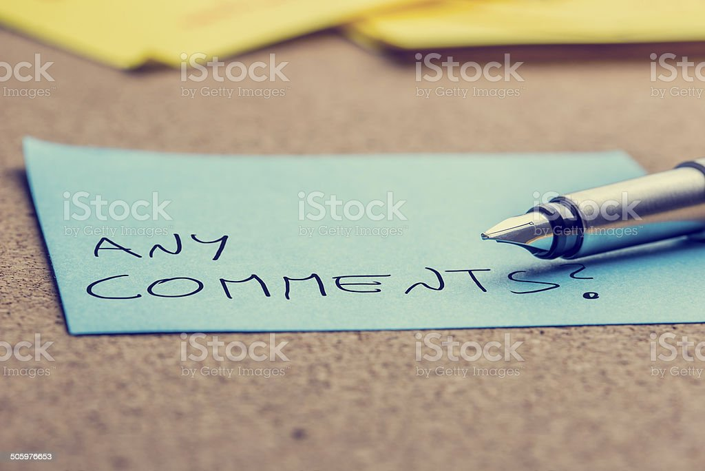 Any comments stock photo