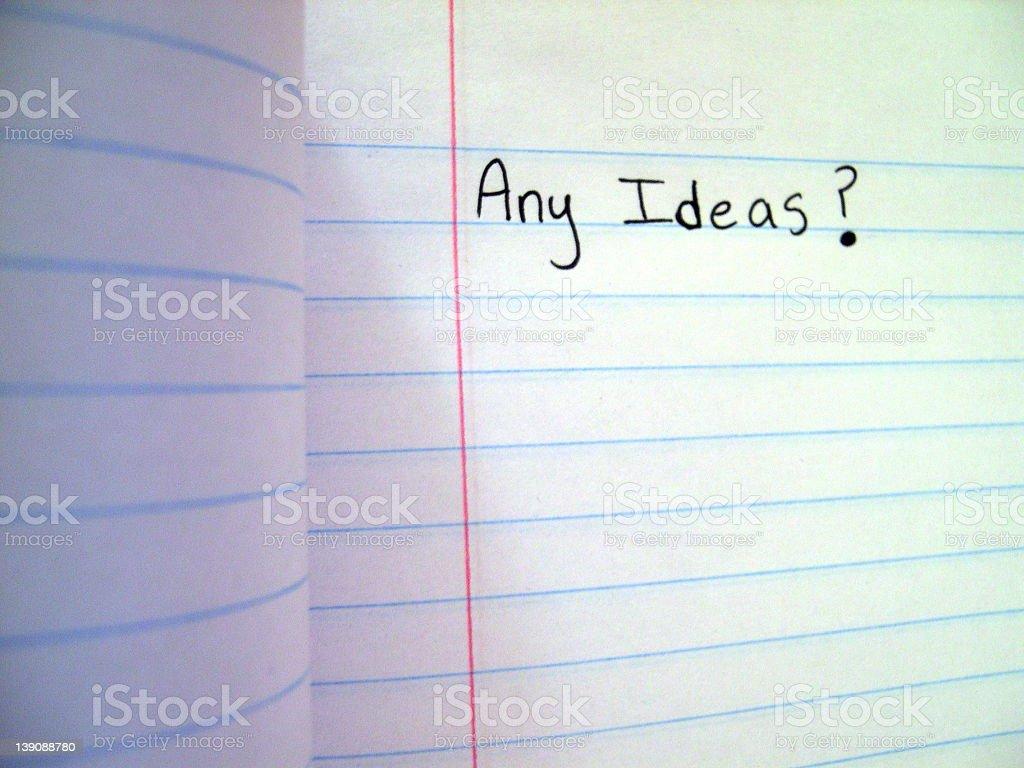 Any Ideas? stock photo