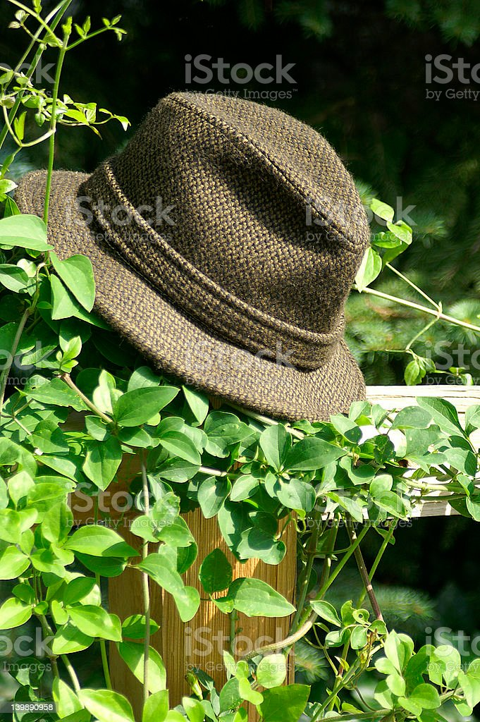 Any place you hang your hat..... stock photo