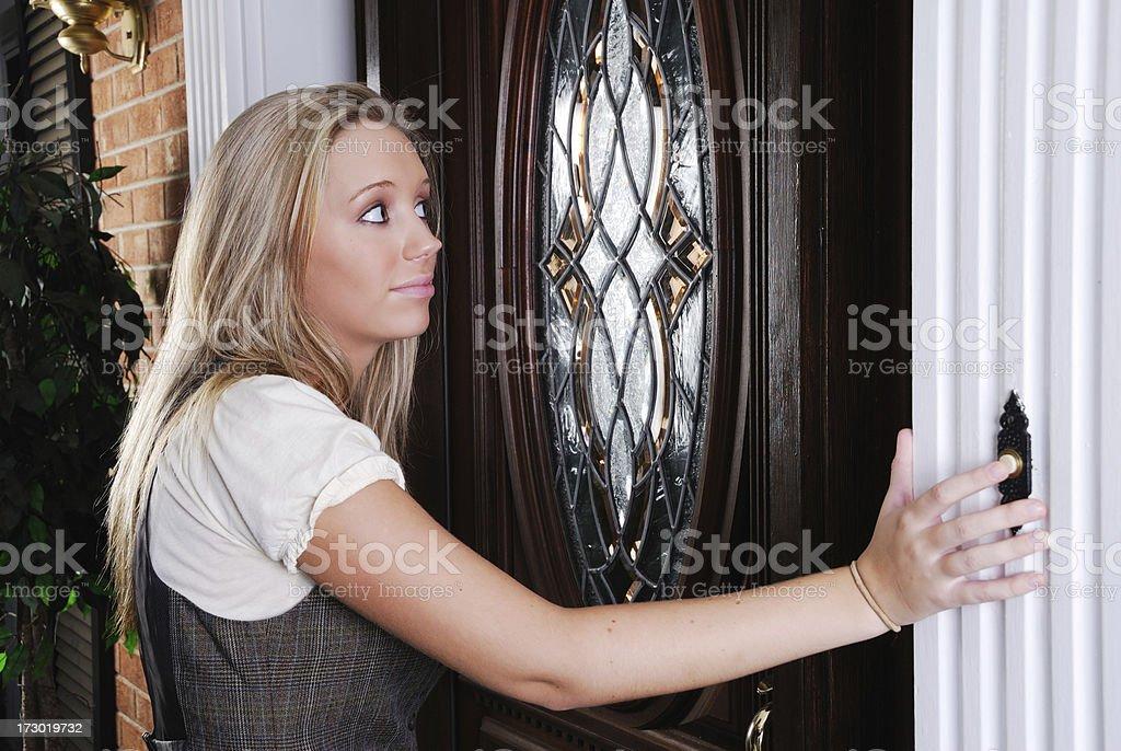 Anyone Home? stock photo