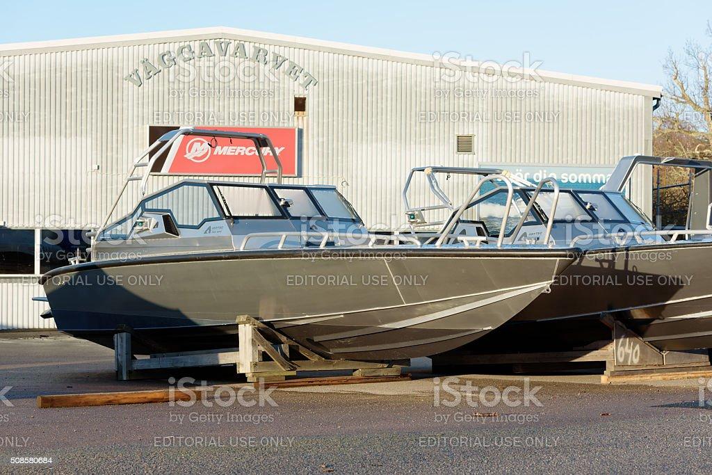 Anytec aluminum boat stock photo