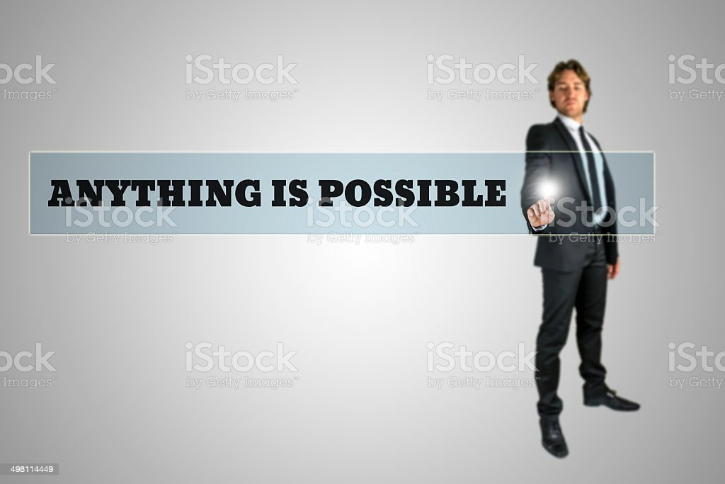 Anything is possible stock photo
